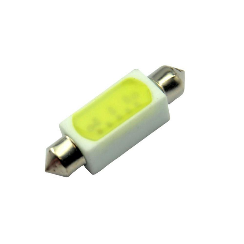 Лампа светодиодная LEDO C5W / SV8,5-8 / 12V COB 39mm 3W керамика