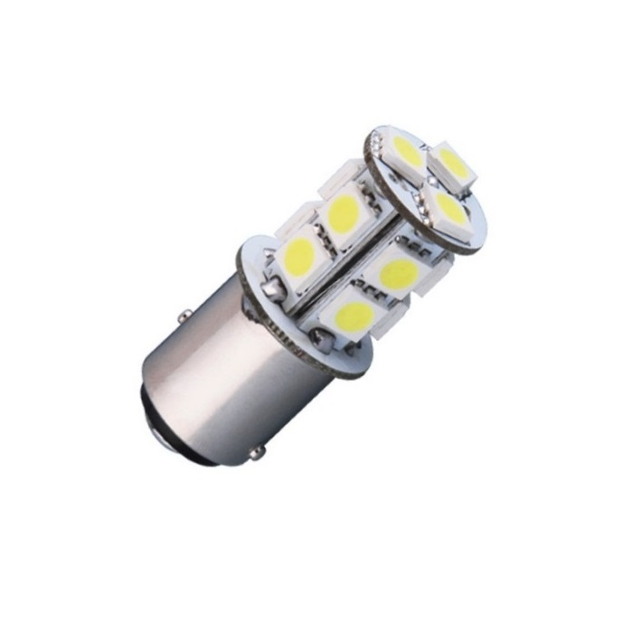 Лампа светодиодная P21/5W BA15D 12V 13SMD бел