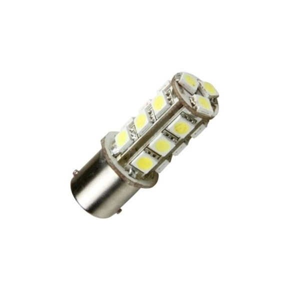 Лампа светодиодная P21W / BA15S 12V 18SMD бел