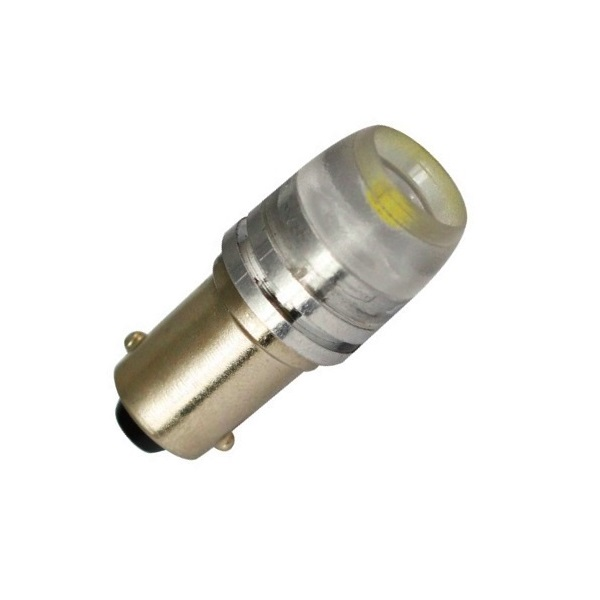 Лампа светодиодная T4W / BA9S / 12V линза 1,5W High Power бел