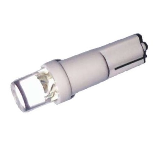 Лампа светодиодная W1.2W / T5 / W2.0x4.6d 12V 1LED белая