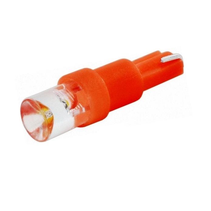Лампа светодиодная W1.2W / T5 / W2.0x4.6d 12V 1LED красная