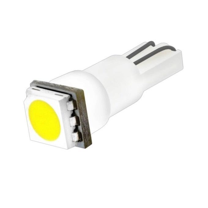 Лампа светодиодная W1.2W / T5 / W2.0x4.6d 12V 1SMD белая