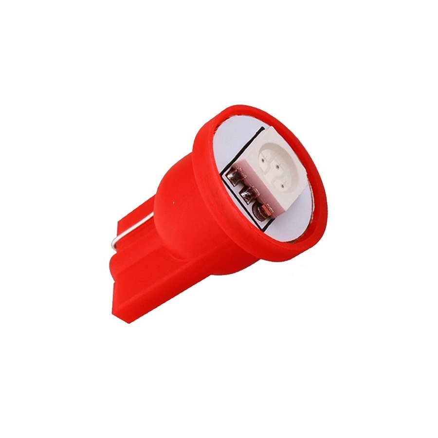 Лампа светодиодная W5W 12V 1SMD крас