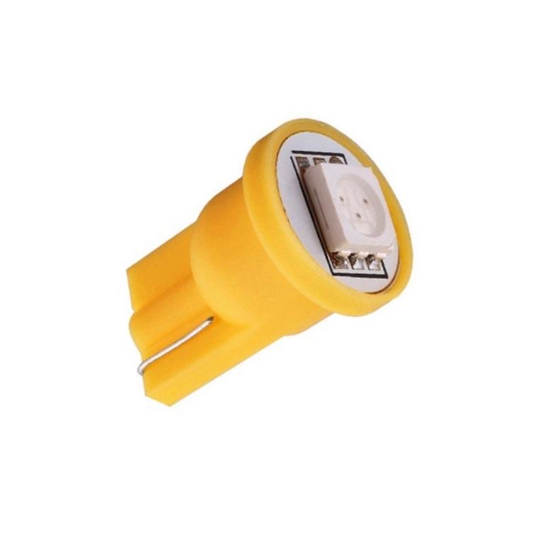 Лампа светодиодная W5W 12V 1SMD желт