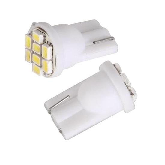Лампа светодиодная W5W 12V 8SMD бел
