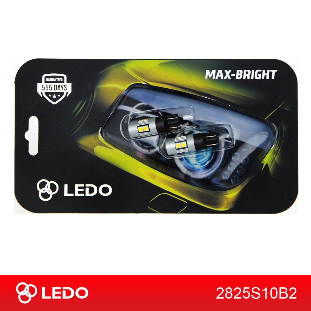Лампа светодиодная W5W LEDO Max-Bright 10SMD Osram чип 12V