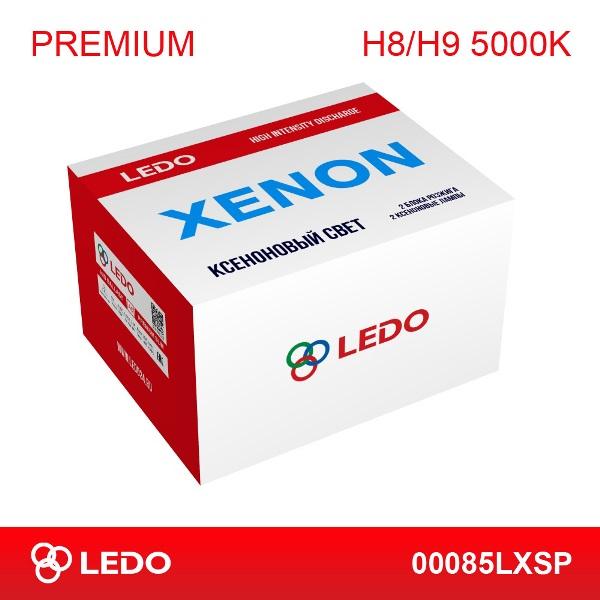 Комплект ксенона H8/H9 5000K LEDO Premium (AC/12V)