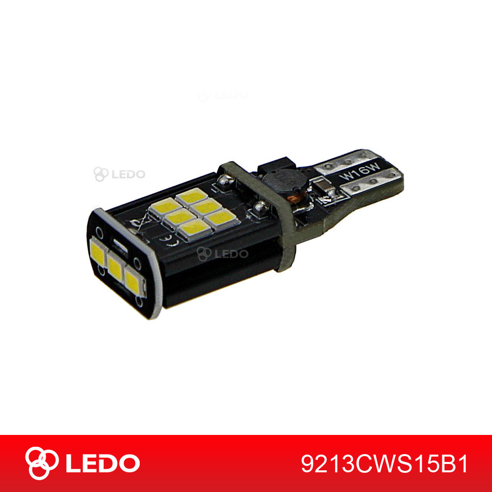 Лампа светодиодная W16W LEDO Max-Bright 15SMD 12V белая