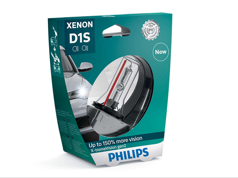 Автолампа D1S (35) PK32d-2+150% XENON X-TREME VISION gen2 (блистер) 4800K  85V PHILIPS