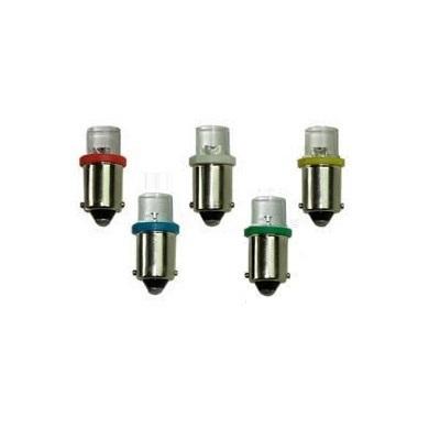 Лампа светодиодная T4W / BA9S / 12V 1LED конус син