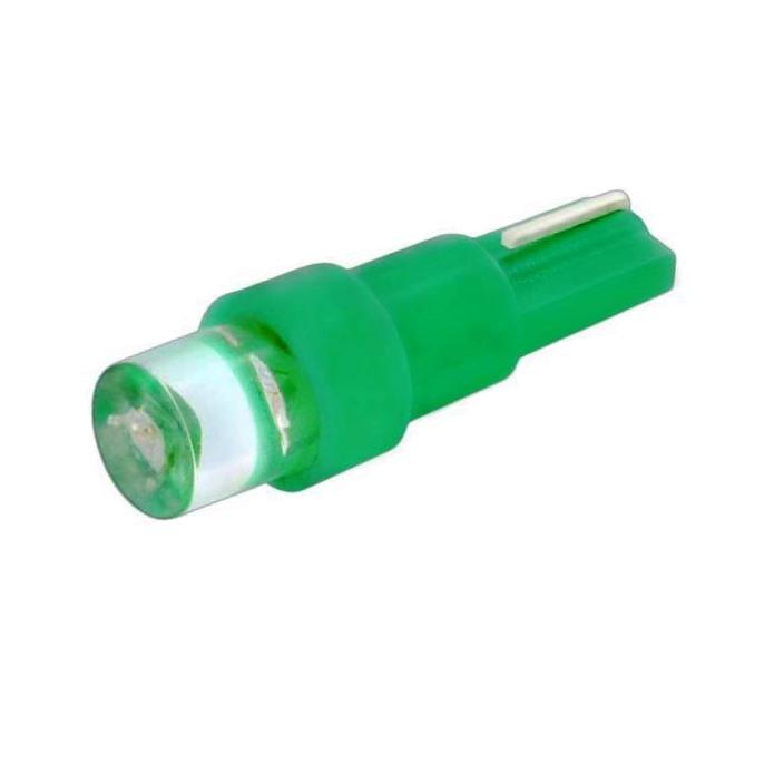 Лампа светодиодная W1.2W / T5 / W2.0x4.6d 12V 1LED зеленая