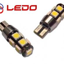 Лампа светодиодная W5W LEDO 12V 9SMD с обманкой