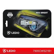 Лампа светодиодная W21W LEDO Max-Bright 21SMD линза 12V белая