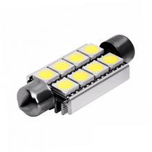 Лампа светодиодная C5W / SV8,5-8 / 12V 8SMD с обманкой