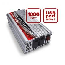 Инвертор AVS 12/220V  1000W +USB