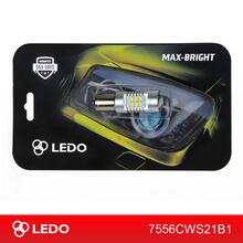Лампа светодиодная P21W LEDO Max-Bright 21SMD линза 12V белая