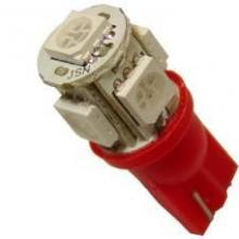 Лампа светодиодная W5W 12V 5SMD крас