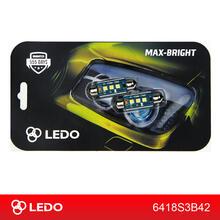 Лампа светодиодная C10W LEDO Max-Bright 42mm 3SMD Osram чип 12V
