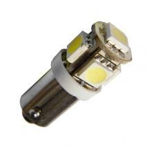 Лампа светодиодная T4W / BA9S / 12V 5SMD белая