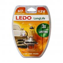 Лампа H7 LEDO LongLife 12V 55W блистер