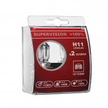 Лампа H11 LEDO SuperVision +100% 12V Duobox 2шт