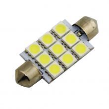 Лампа светодиодная C5W / SV8,5-8 / 12V 9SMD 41мм открытая бел