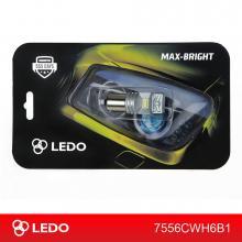 Лампа светодиодная P21W LEDO Max-Bright 6CSP 12V белая