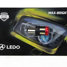Лампа светодиодная P21W LEDO Max-Bright Hard 18SMD 12V-60V белая