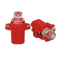 Лампа светодиодная W1.2W / BX8.3d 12V 1LED для русских красная