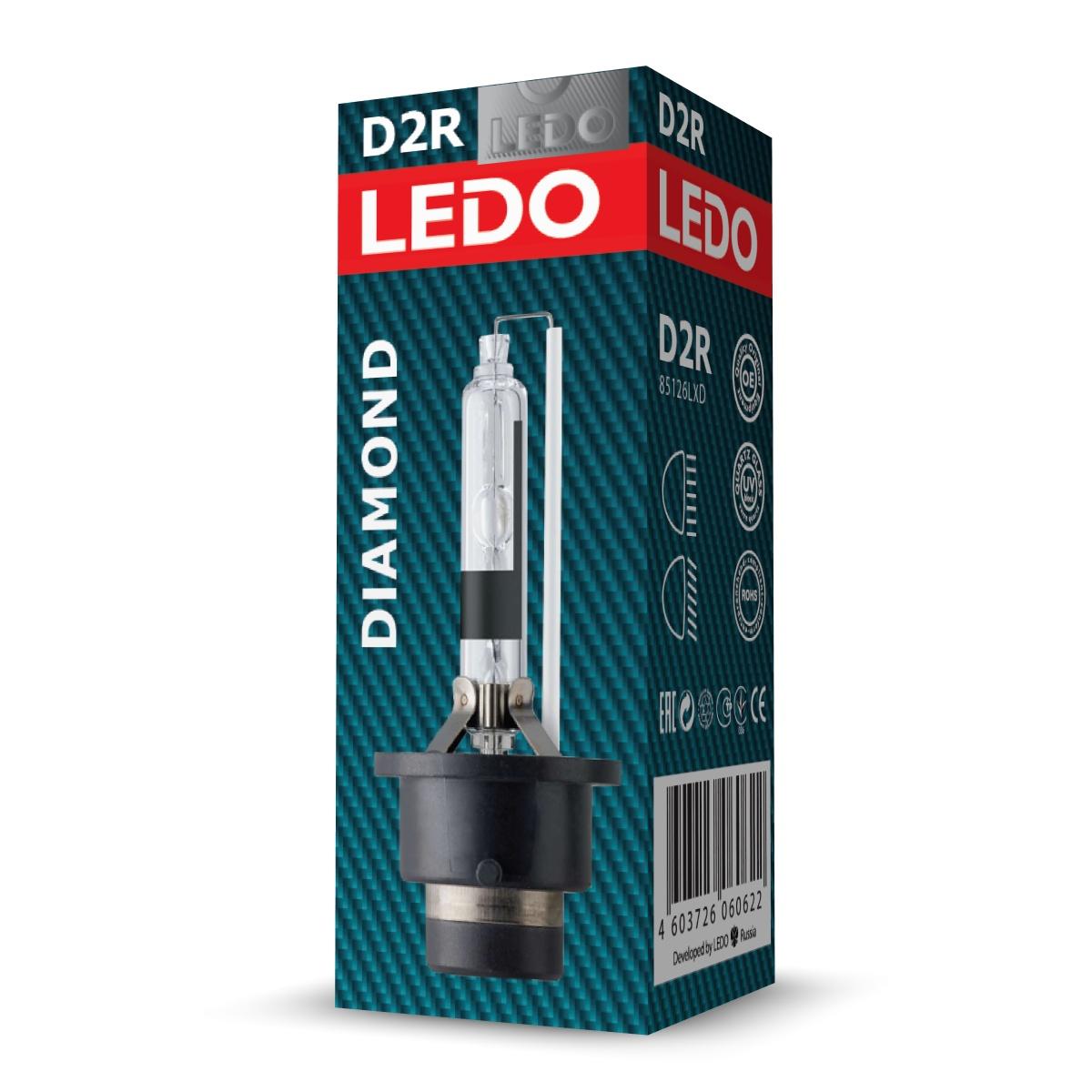 Лампа D2R 5000К LEDO Diamond