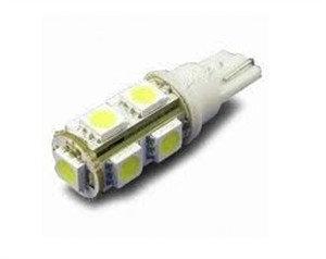 Лампа светодиодная W5W 12V 9SMD 108Lm бел