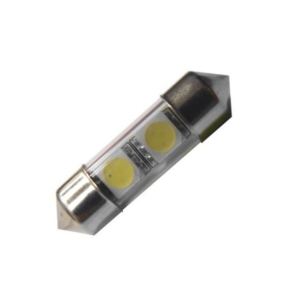 Лампа светодиодная C5W / SV8,5-8 / 12V 2SMD 38мм бел