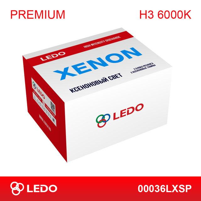 Комплект ксенона H3 6000K LEDO Premium (AC/12V)