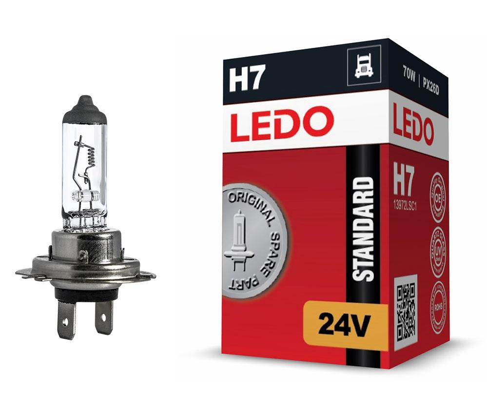 Лампа H7 LEDO Standard 24V 70W