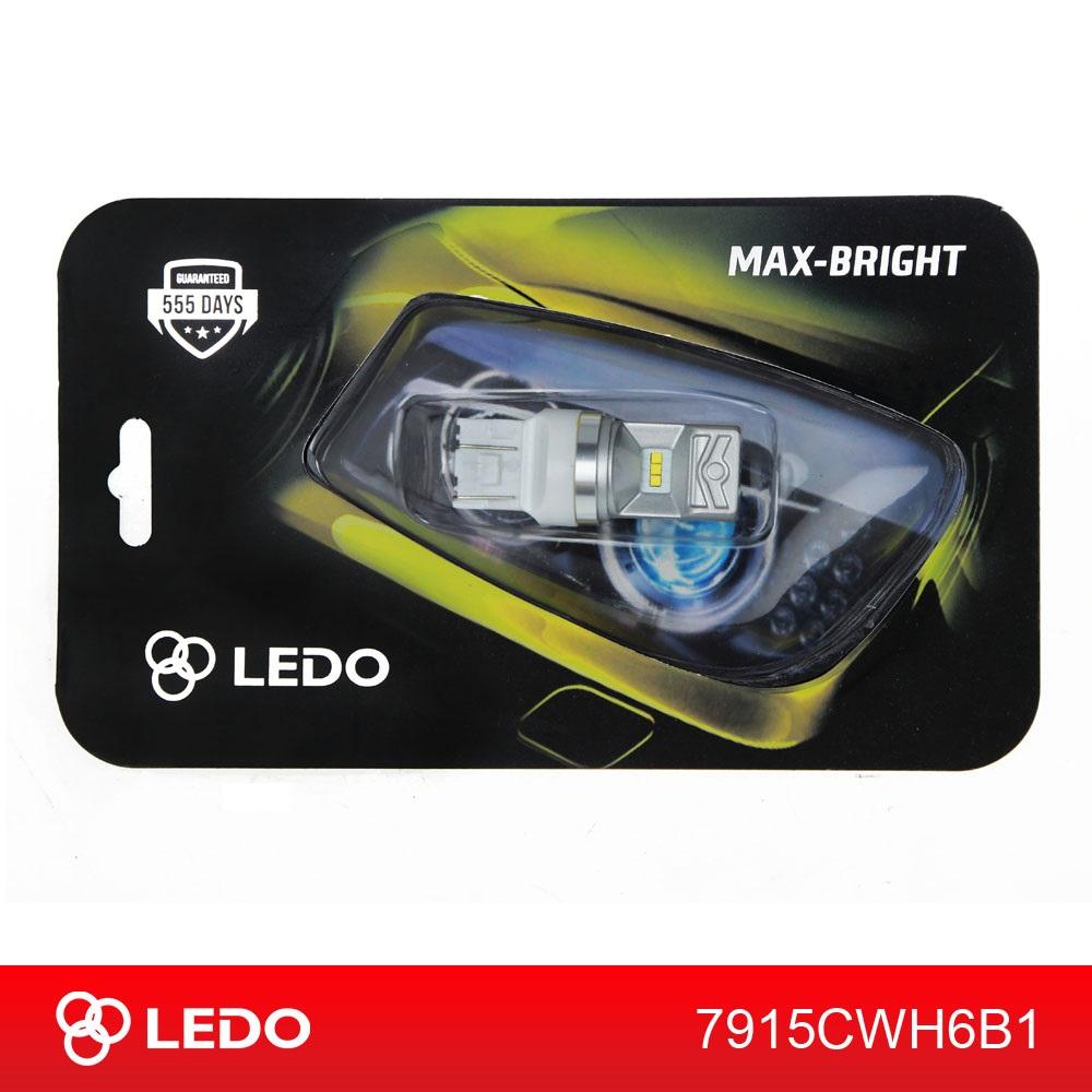 Лампа светодиодная W21/5W LEDO Max-Bright 6CSP 12V белая